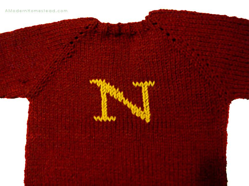 How To Knit a Toddler Sweater in One Day. Can be made like a Harry ...
