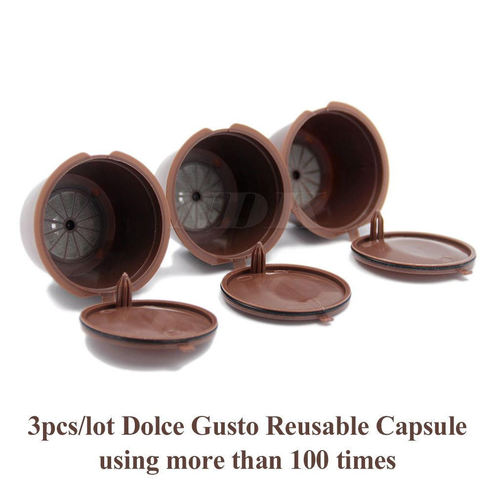 3pcs X2f Pack Refillable Dolce Gusto Coffee Capsule Nescafe Dolce