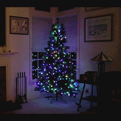7 5 Ft Pre Lit Memory Shape Pop Up Tree With 400 Multicolor Leds And 40 Completely Different Func Colorful Christmas Tree Christmas Decorations Christmas Tree