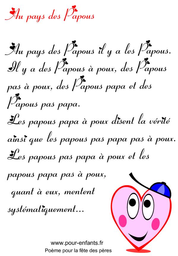 Fête Des Pères Imprimer Un Texte En Images Pour La Fête