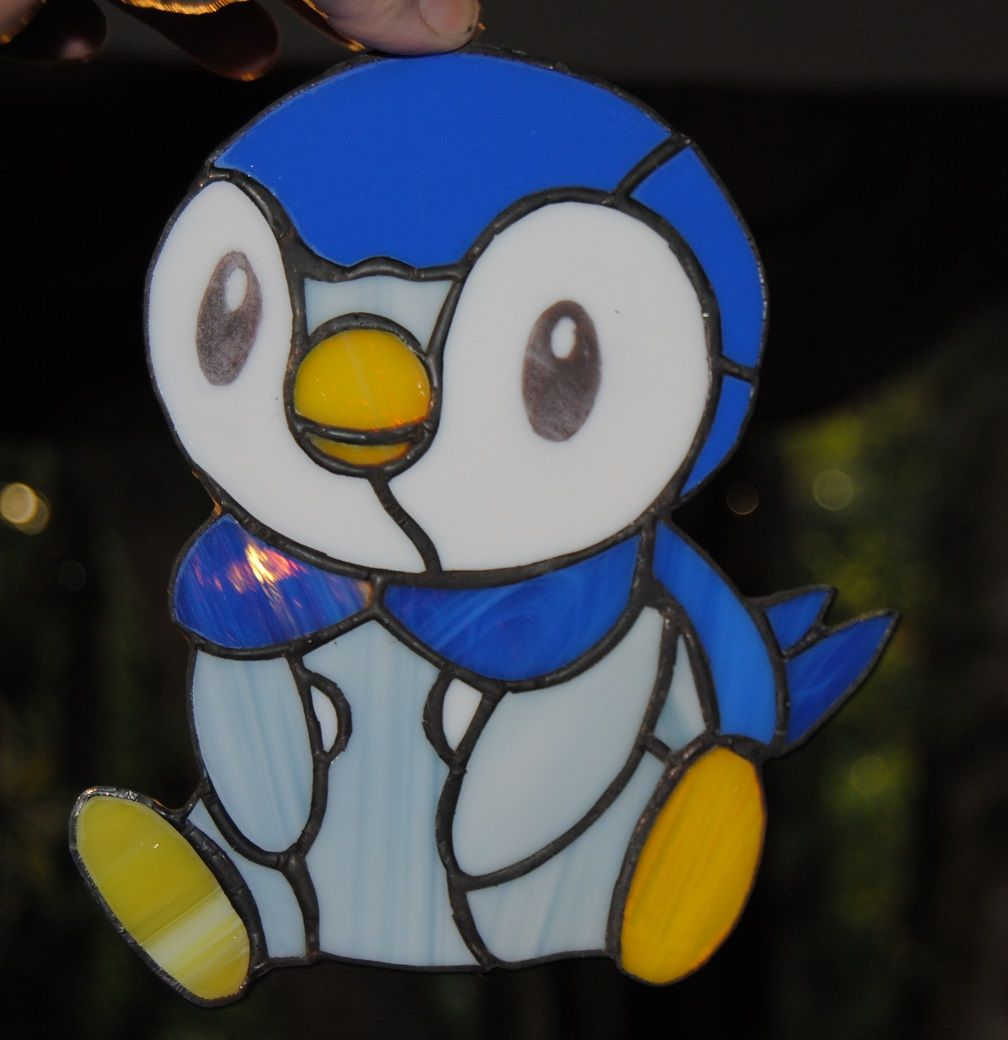 Piplup Pokemon stained glass Russquatch