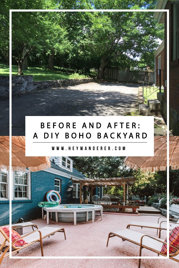 Home Tour: Our DIY Boho Backyard Oasis | Backyard, Oasis ...