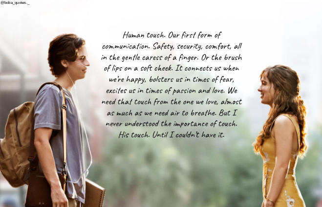 #fivefeetapart #love #forever #withme #moviequotes #quotes #touch #movies