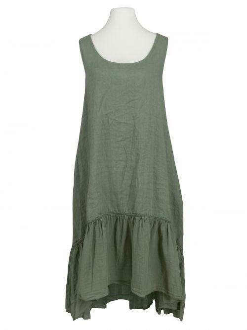 Damen Leinenkleid Volant, khaki von Diana bei www ...