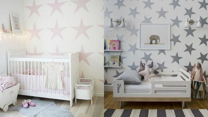 Papel pintado estrellas habitaciones baby papel pintado habitacion chicas y pintar - Papel pintado habitacion bebe ...