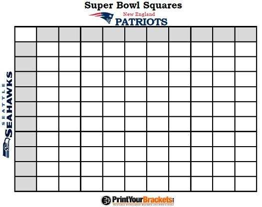 printable super bowl squares 100 grid office pool nfl get