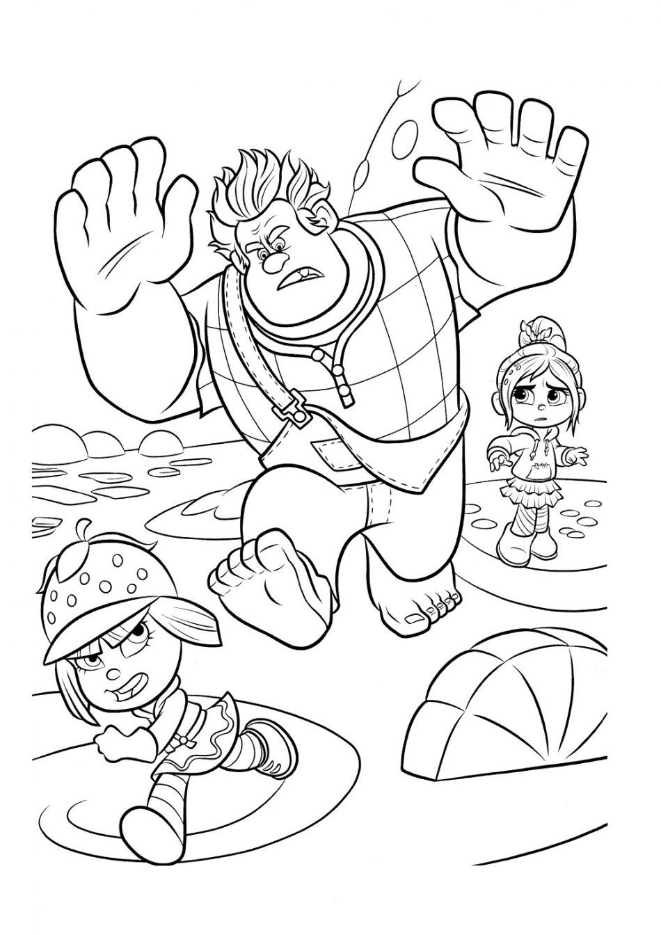 Ralph Vanelope And Taffyta Coloring Book In 2020 Coloring Pages Disney Coloring Pages Coloring Books