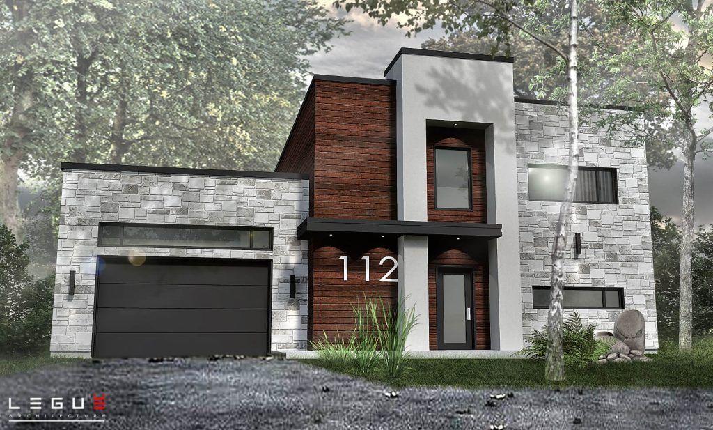 Plan de Maison Moderne Ë_112 Leguë Architecture maison