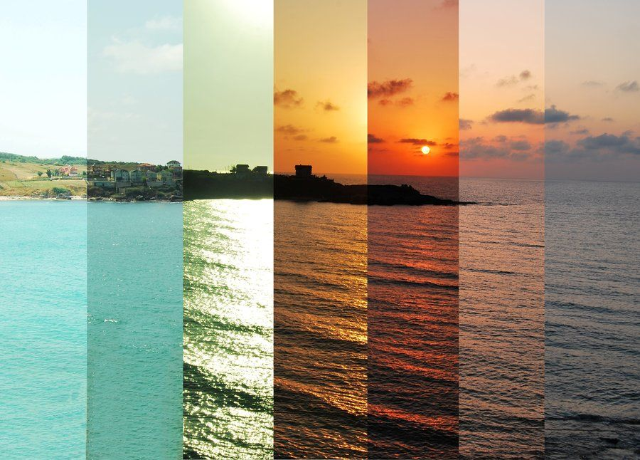 Great idea: photograph the same place at different times. Put those photos together.