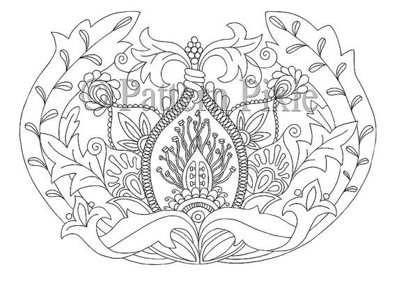 Adult Colouring Page Flower Anatomy Flower anatomy Adult