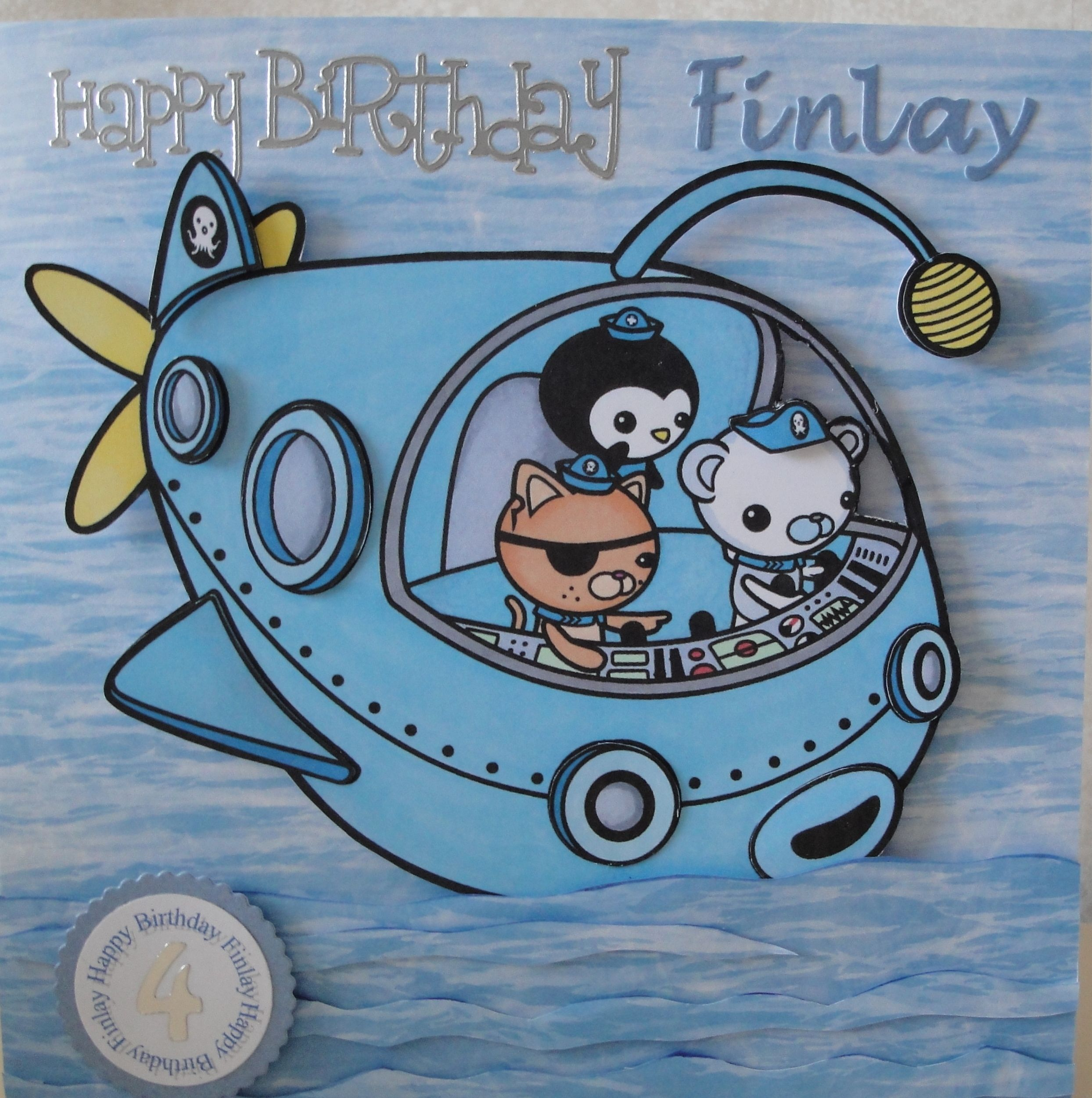 Octonauts Card I Downloaded This Picture Coloured It With Promarkers Scanned And Printed It On To Matt Photographi Octonauts Party Octonauts Birthday Cards