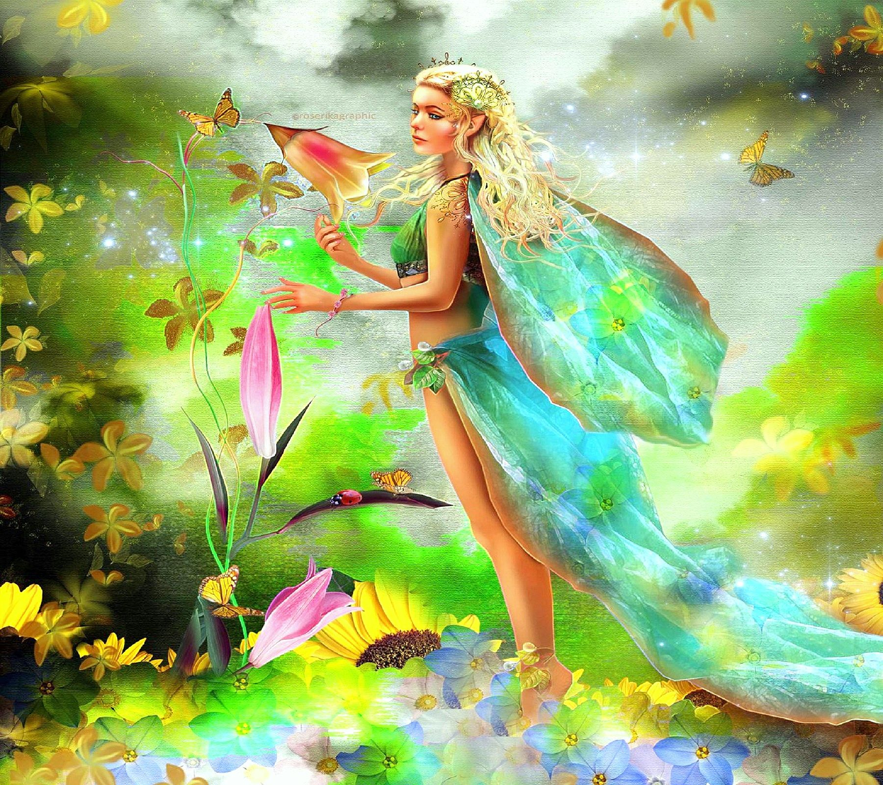 Spring Fairy Wallpaper Fairy In Spring Desktop Background Hd Wallpapers Fairy Wallpaper Fairy Art Beautiful Fairies