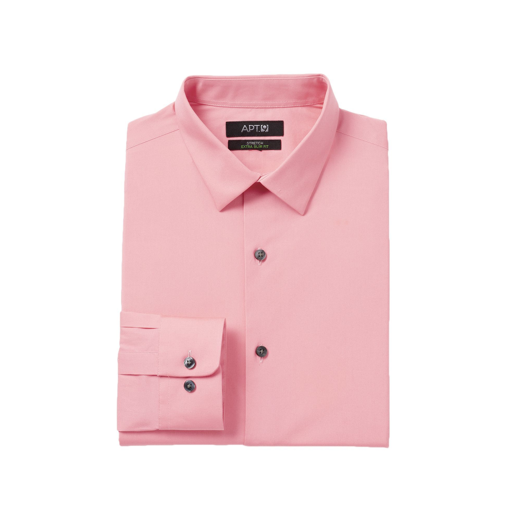Mens Slim Fit Light Pink Dress Shirt Joe Maloy