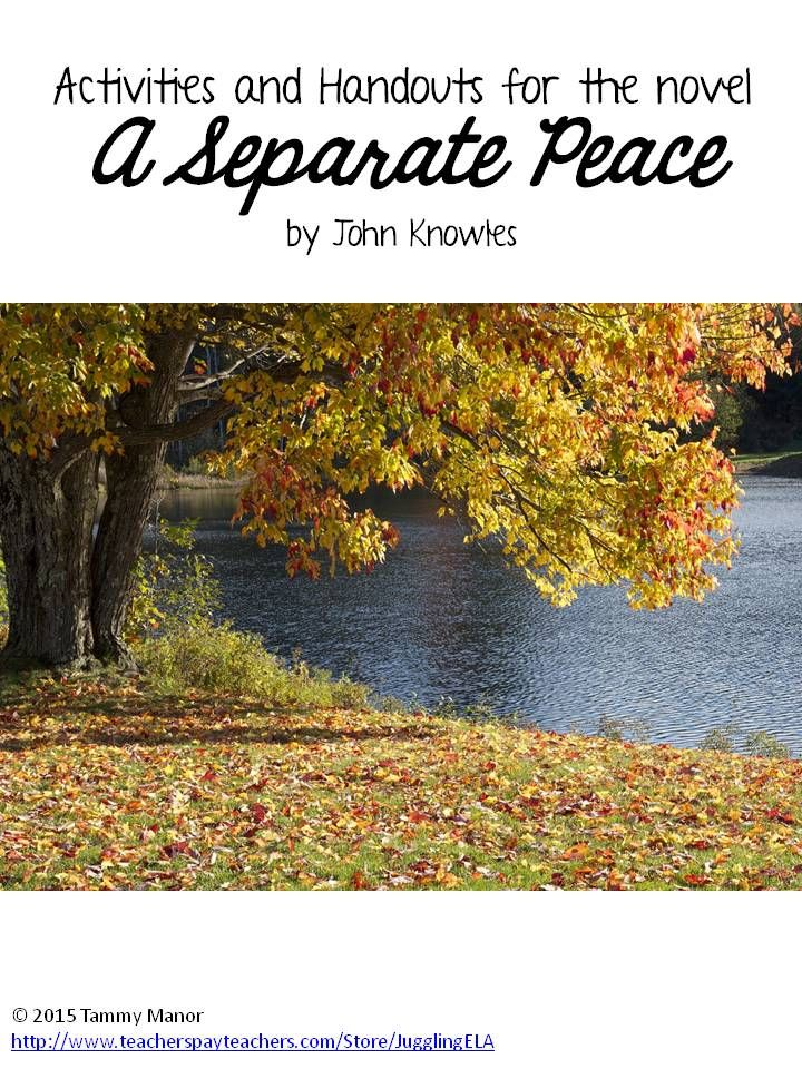 hatred and jealousy depicted in a separate peace by john knowles A separate peace by john knowles is a coming-of-age novel  gene's search for identity in john knowles a separate peace april overtaken with jealousy and.
