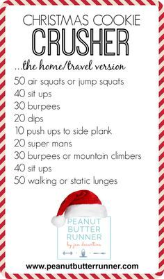2014 Christmas Cookie Crusher Workout - Home Version! High-intensity home or travel workout. No equipment needed!