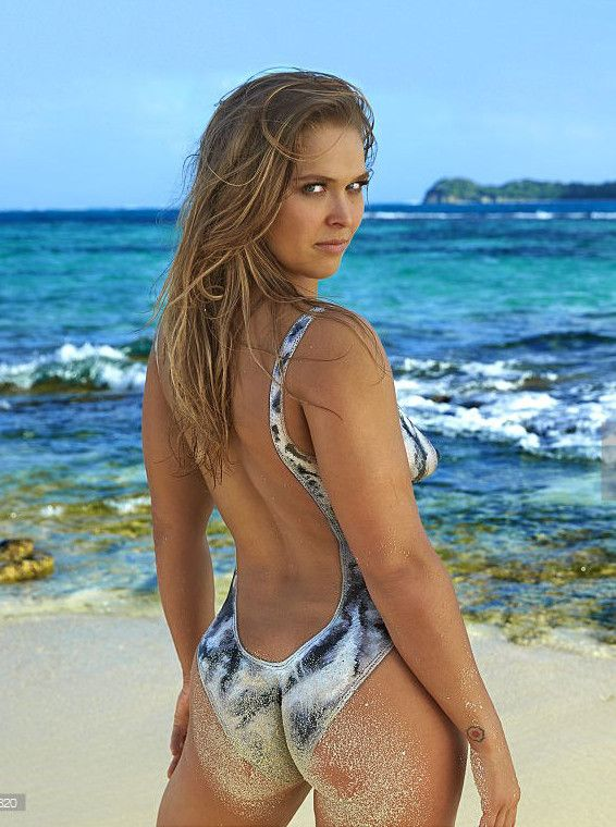 Ronda Rousey Painted Swimsuit Pictures