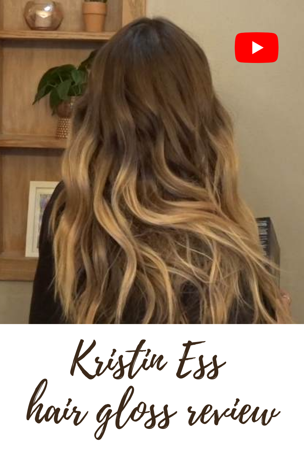 Kristin Ess Hair Gloss BEFORE AFTER in 2020 Hair gloss