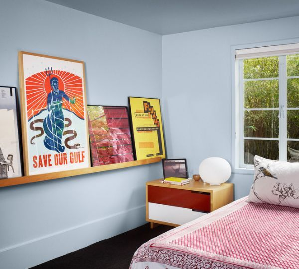 Luxurious Vintage Modern Interiors Bedroom Frame Those Posters And Line Them Up On A Floating