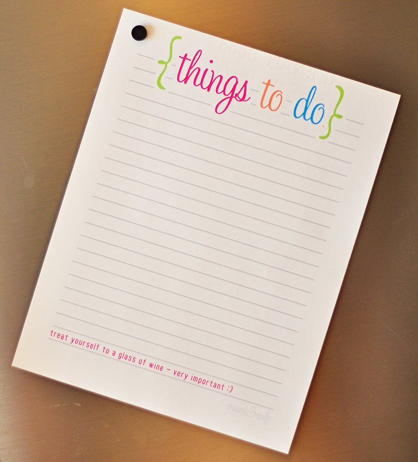Printable Things To Do Lists: A Well, Free Things And Mom