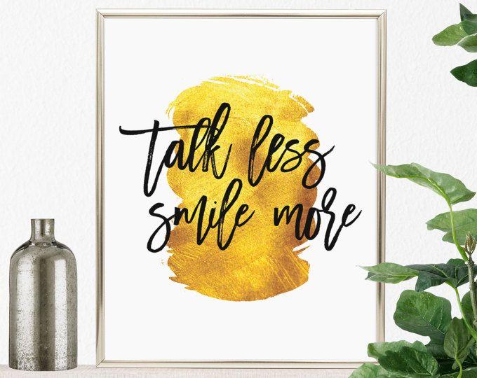 Talk Less Smile More, PRINTABLE Hamilton Wall Art, Hamilton Quotes ...