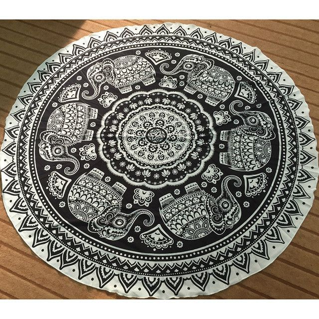 Vintage Round Mandala Indian Tapestry Wall Hanging Bohemian Hippie