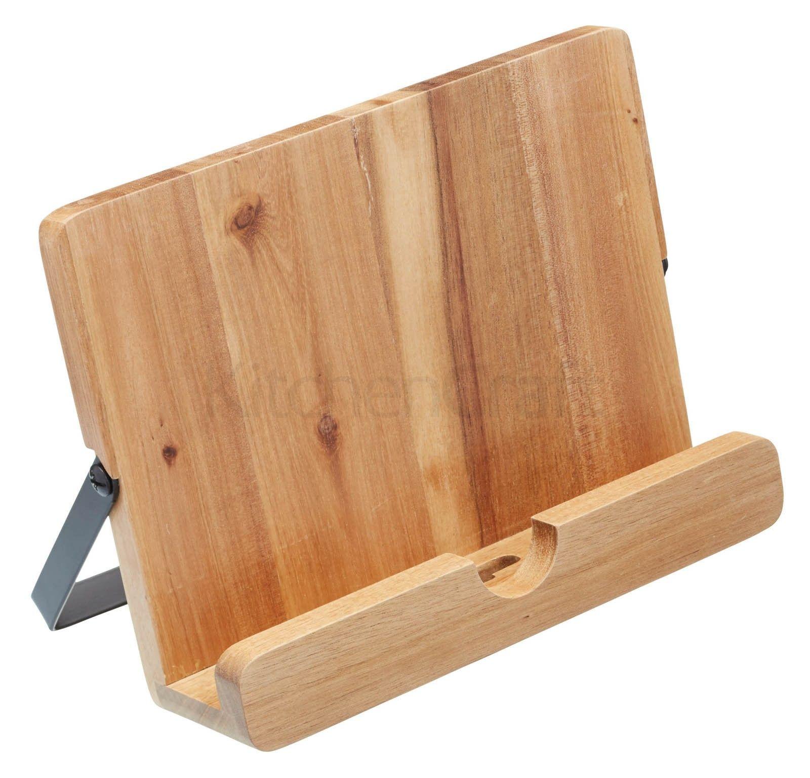 J'opte pour un matériau noble avec ce lutrin en acacia qui accueillera ma tablette tactile http://www.deco-et-saveurs.com/accessoire-de-rangement/4599-lutrin-de-cuisine-en-bois-kitchencraft-5028250509895.html