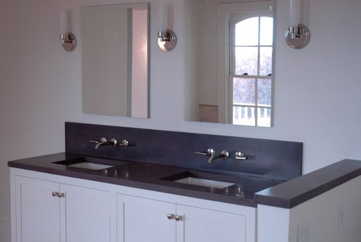 Tory Hill Double Undermount Vanity One Piece Matching Concrete