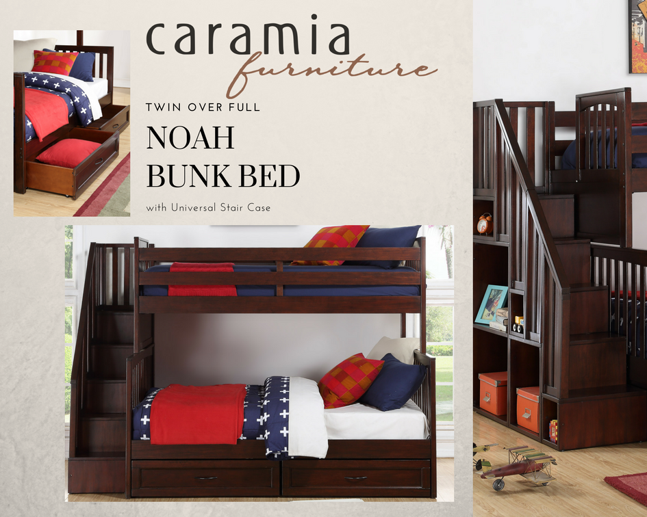 Noah Twin over Full Bunk Bed with Universal Stair Case Available