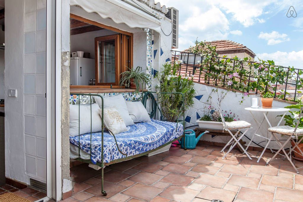 Attic Flat With Terrace In Downtown In Madrid Attic Flooring Attic Remodel Attic Bedroom Storage