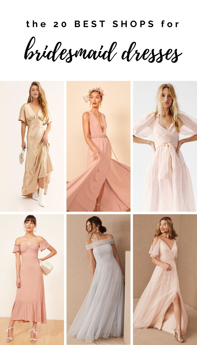 The 7 Best Places to Buy Bridesmaid Dresses Online  Buy
