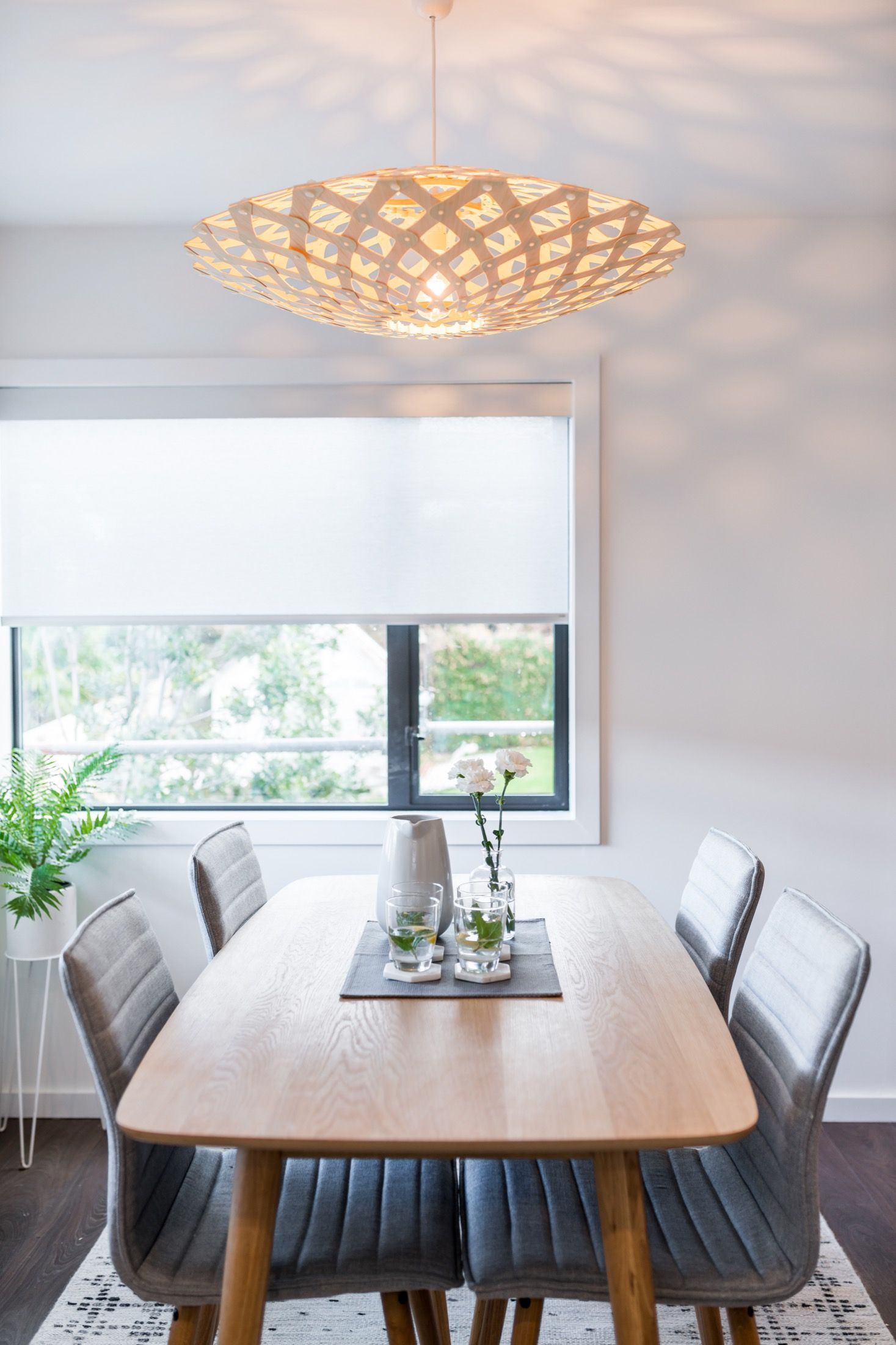 A Flax Pendant Is Perfect Over A Dining Table As It Sheds Light Downward Thr Ceiling Pendant Lights Lights Over Dining Table Pendant Lighting Over Dining Table