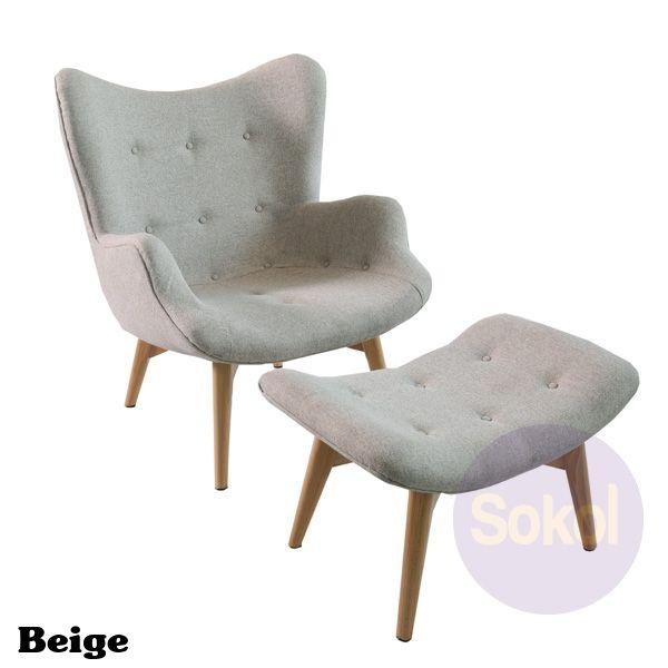 Replica Featherston Contour Lounge With Ottoman | Sokol Designer Furniture