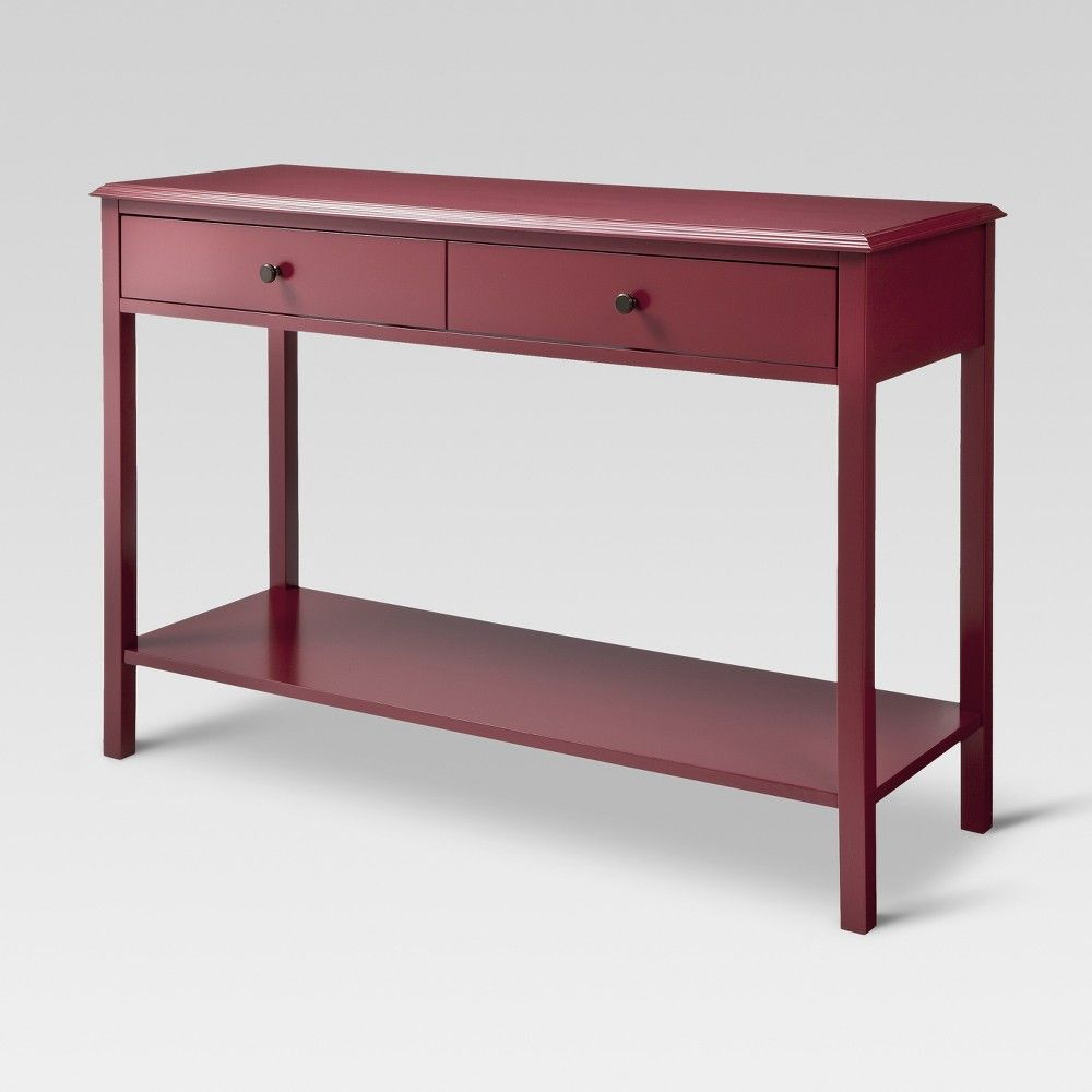 Windham Console Table Red Threshold Products Console Table Console Table Living Room Low Console Table