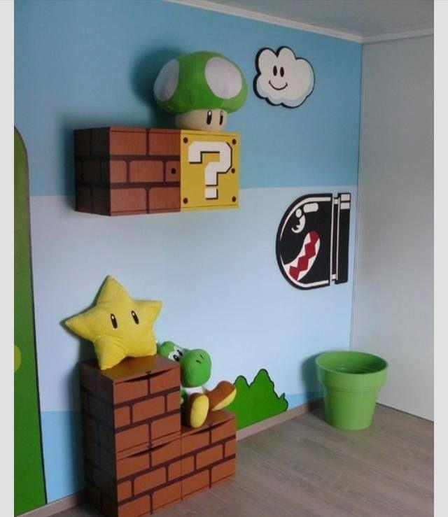 Mario Brothers Bedroom Decor   Super Mario Bros. Room Design And DIY  Furniture   Ideas For GAbEu0027s Room   Pinterest   Mario Brothers, Super Mario  Bros And ...