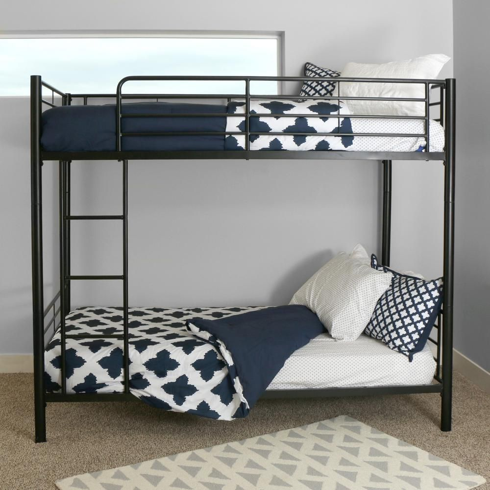 1ff0fd86d278 Walker Edison Furniture Company Sunset Twin Over Twin Metal Bunk Bed ...