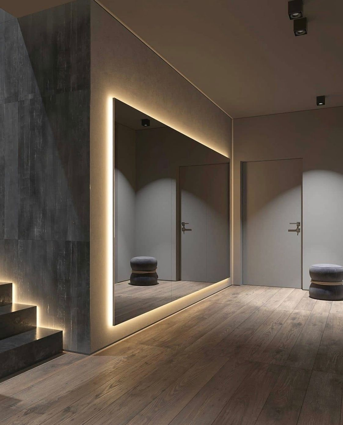 Interior Idea On Twitter Gym Interior Grey Home Decor Dance Rooms