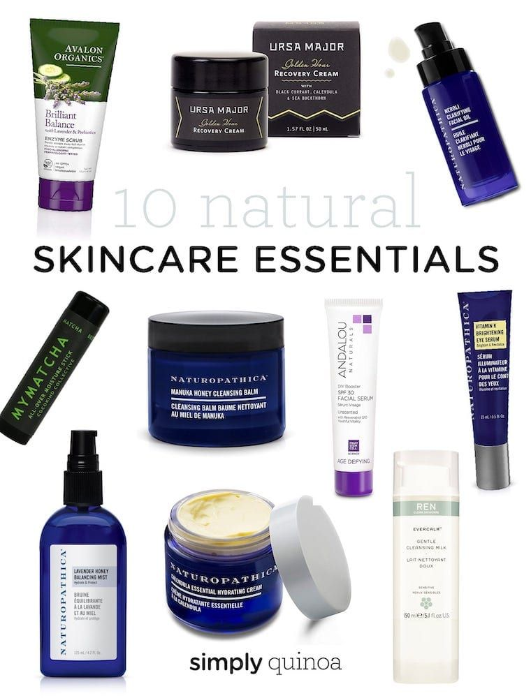 My 10 Essential Natural Skincare Products Simply Quinoa Skin Care Natural Skin Care Skin Care Essentials