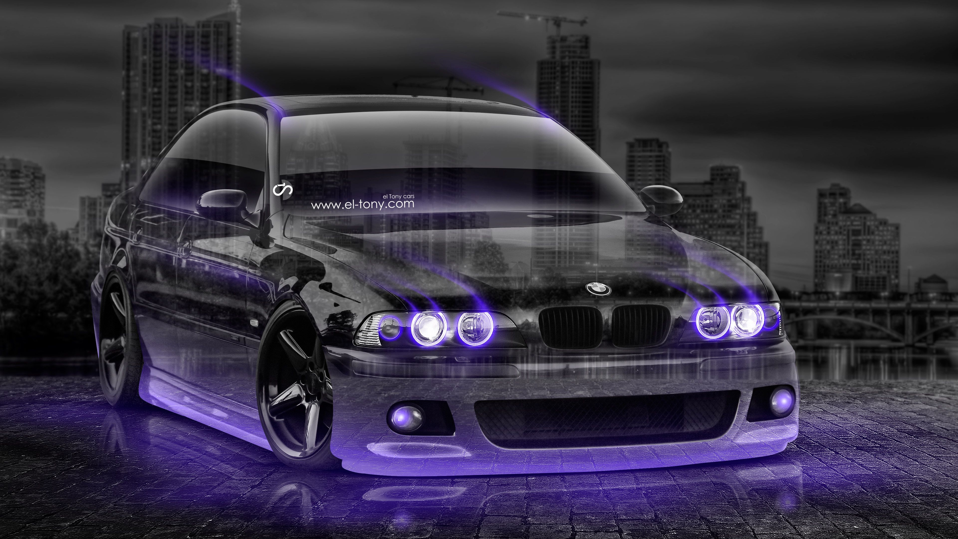 Captivating BMW M5 Tuning 3D Crystal City Car 2015