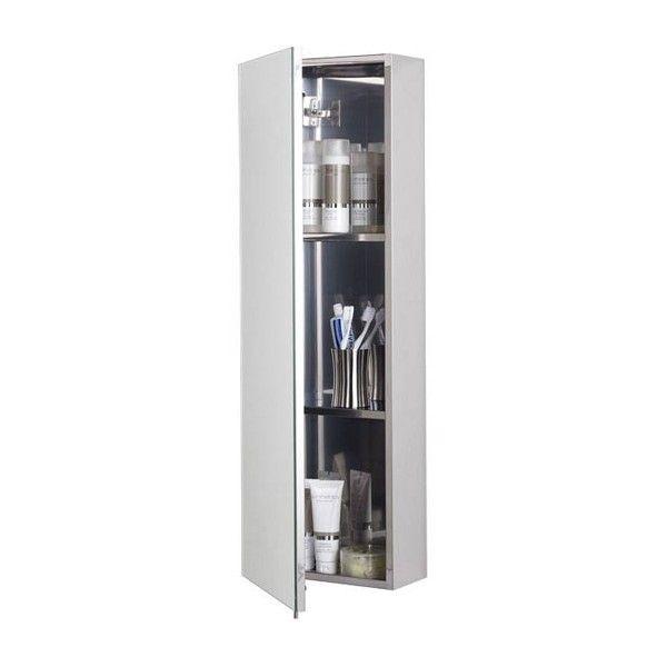 Zenith Stainless Steel Tall Bathroom Cabinet Bathroom