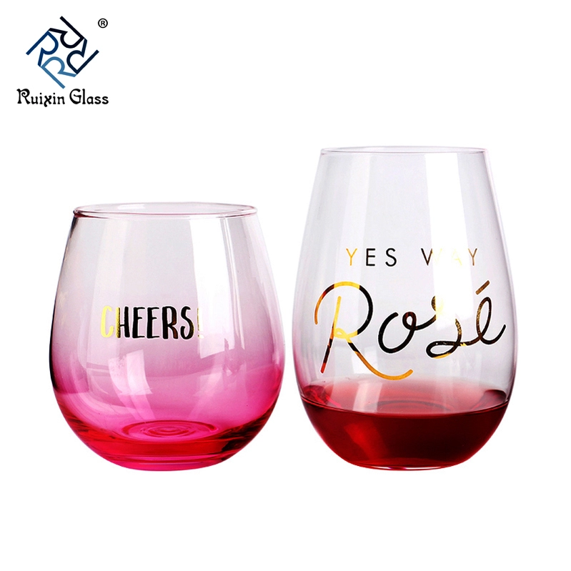 W121 New Design Top Quality Personalized Stemless Wine Glass Etched View Stemless Wine Glass Etched Ruixin Product Details From Shenzhe