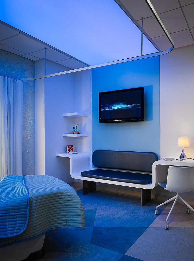 Patient Room Design: #healthcare Perkins+Will's King Abdullah Specialty