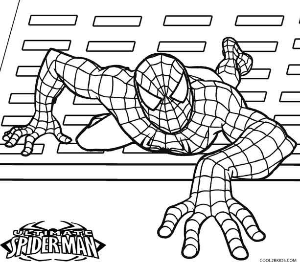 Printable Spiderman Coloring Pages For Kids Cool2bKids Comic