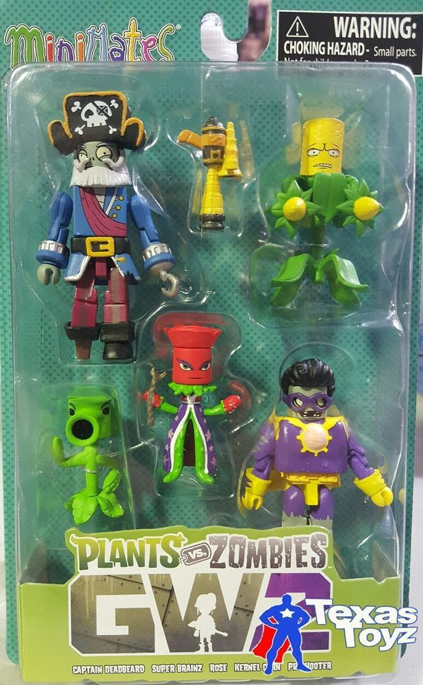 Plants vs Zombies Minimates Garden Warfare 2 Series 1 Box Set