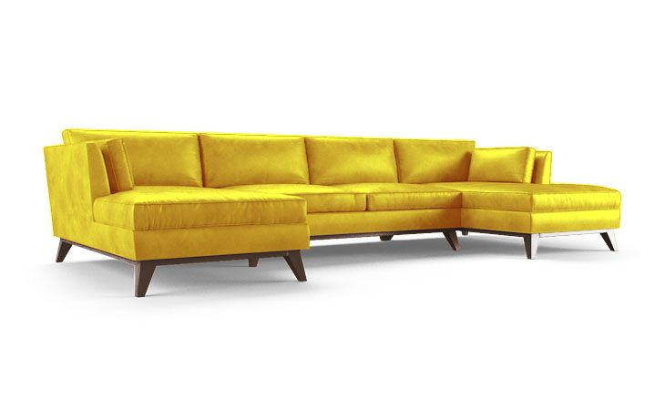 Roller Leather U Chaise Sectional Products