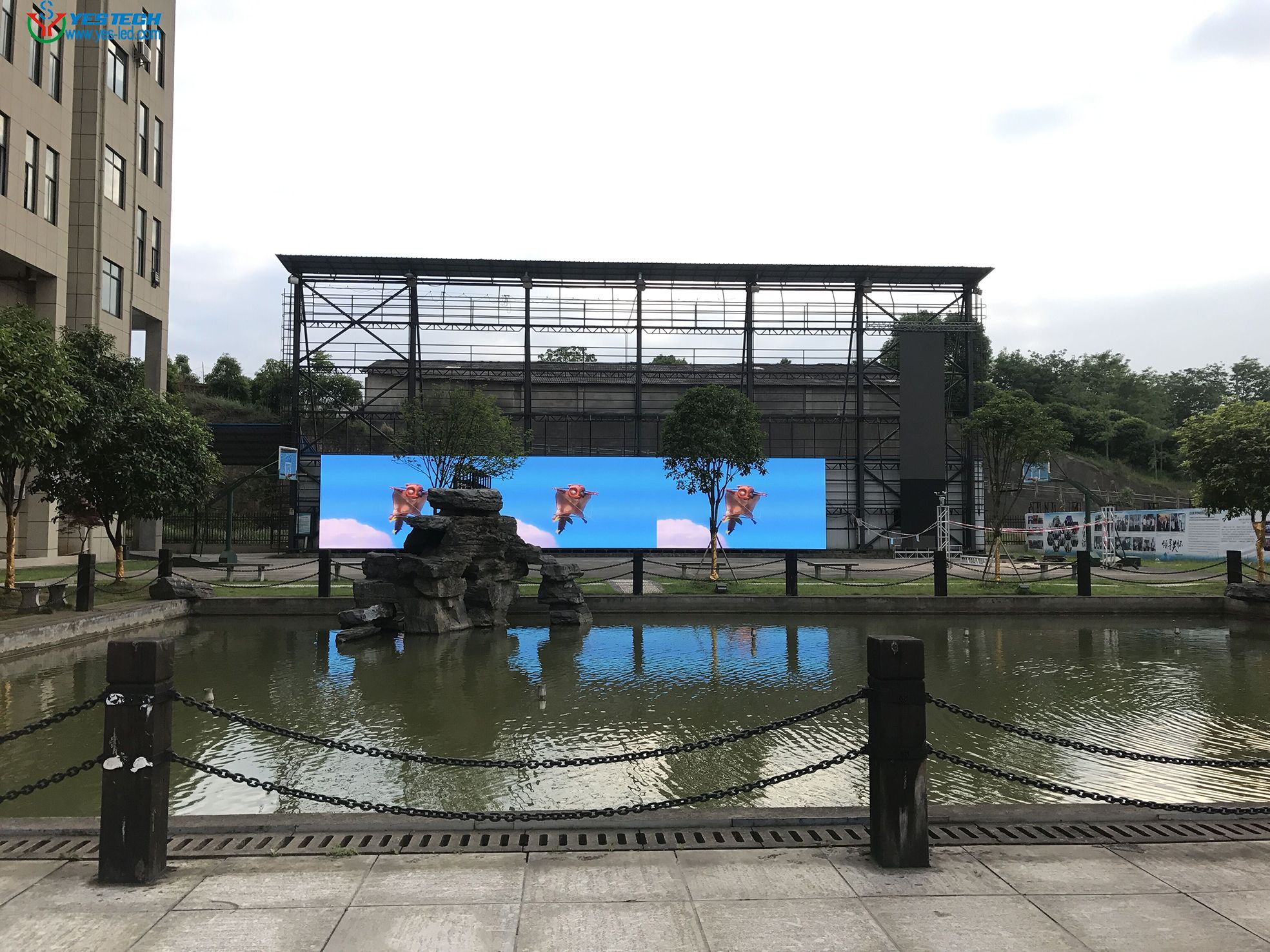Aging test for MG7 P4.8 outdoor led screen in 29