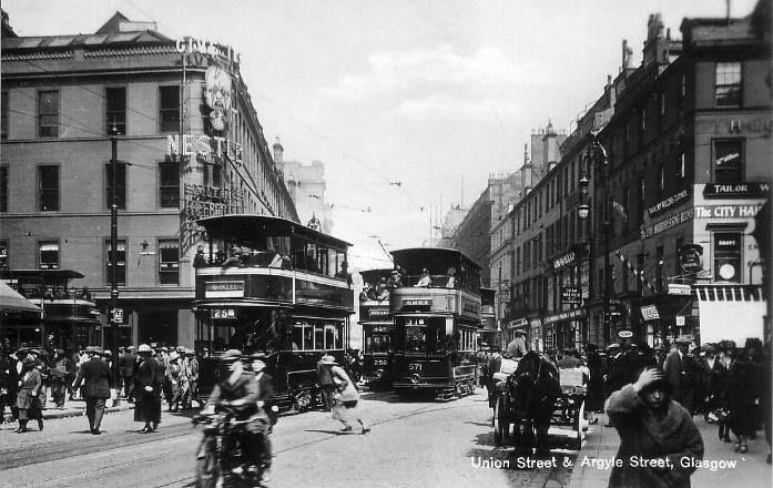 Union Street/Argyle Street, Glasgow. 1920 | Glasgow, Glasgow subway