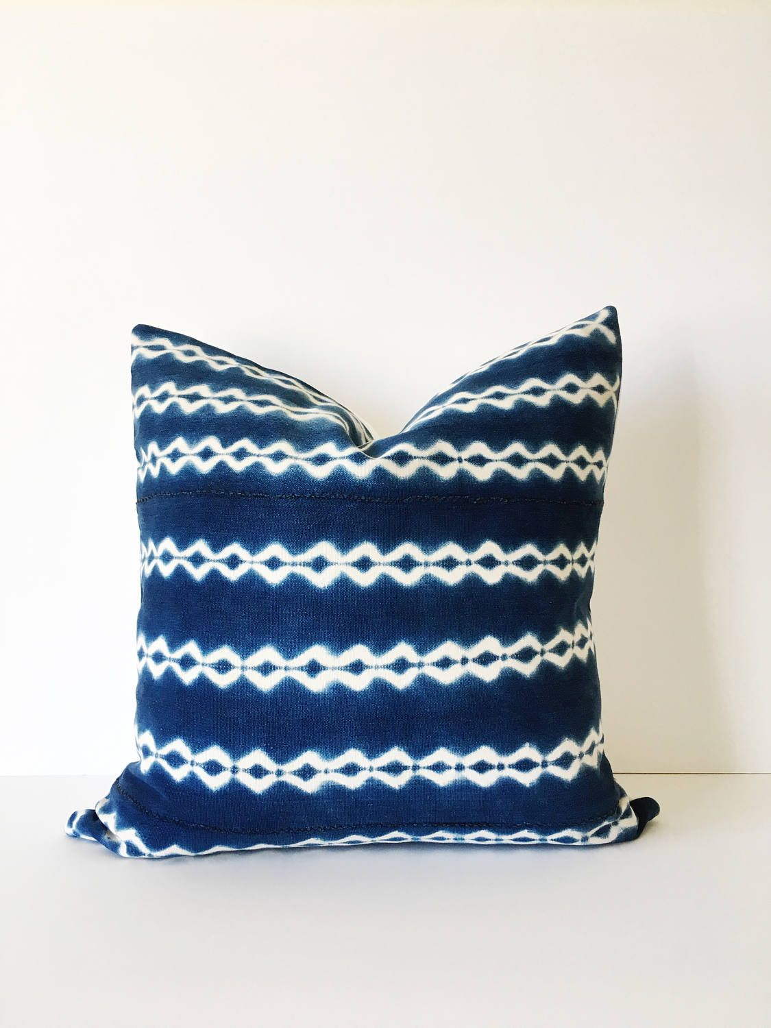 Lovely vintage african strip cloth throw pillow the fabric for this