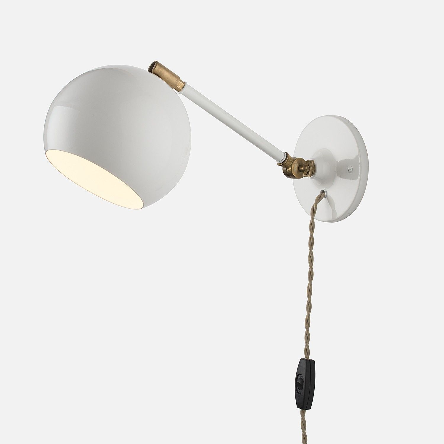 Isaac Plug In Sconce Long Arm Sconces School House Lighting Light Fixtures