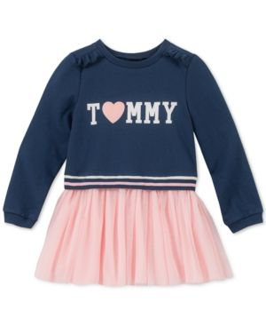 630d48de Tommy Hilfiger Baby Girls French Terry Tutu Dress - Navy/Pink 12M ...