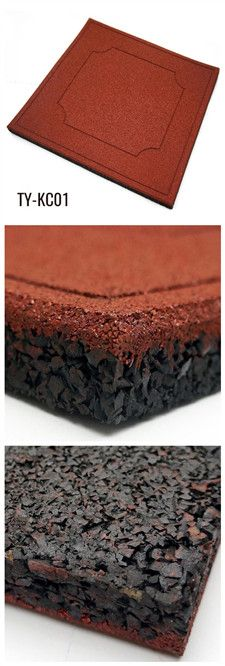 100cm*100cm Rubber floor tiles for your garden Rubber Flooring